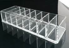 Clear Acrylic Brush Lipstick Holder Makeup Organizer Cosmetic Makeup Tools Storage Box Case 23x9x4.5cm(China)