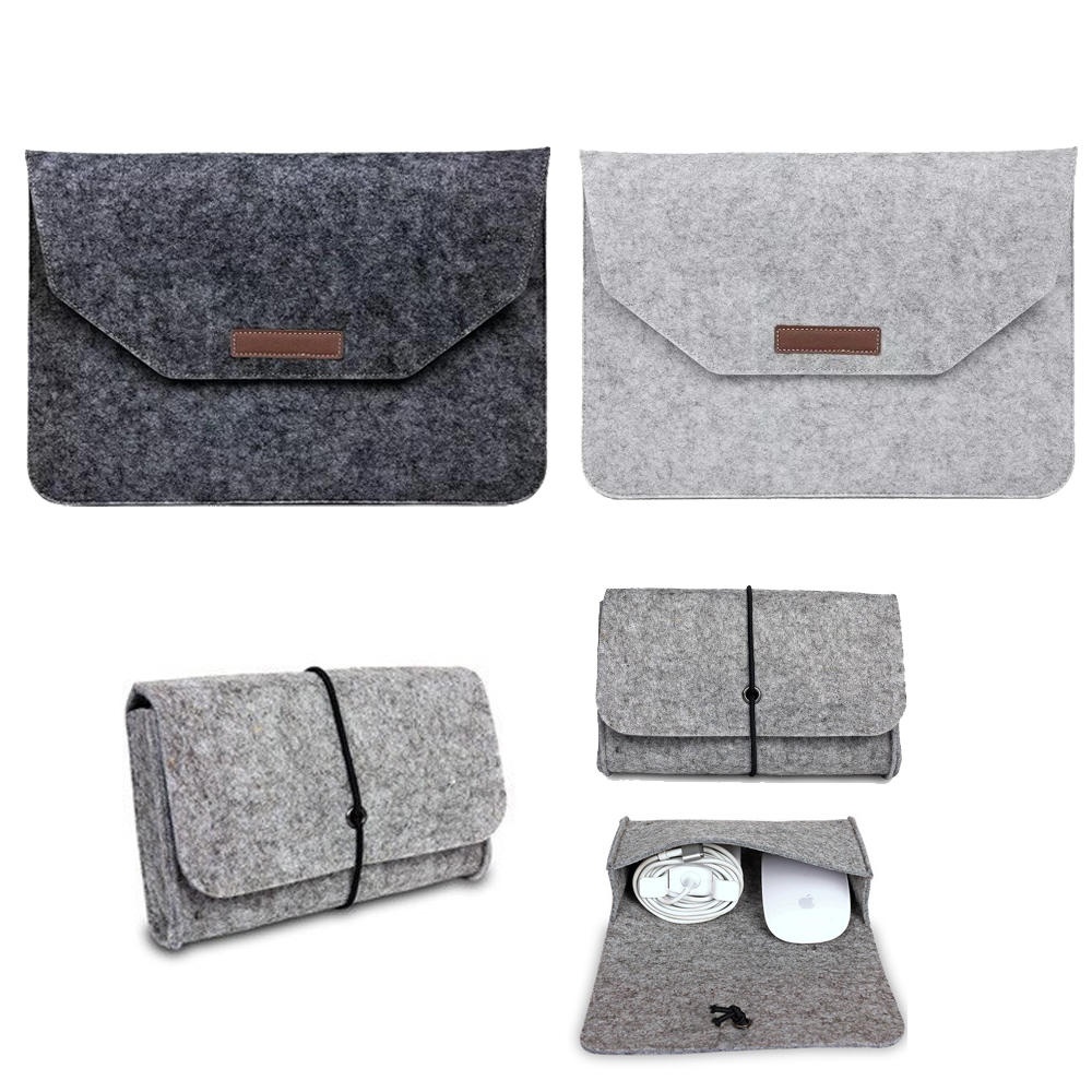 Felt Sleeve For Macbook Air Pro Retina 11 12 13 15 Laptop A1989 A1990 A1707 Sleeve Case For Mac Book Air Pro 13 2018 2017 Sleeve