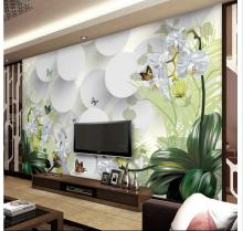 Custom photo wallpaper 3d wall murals wallpaper Flower mural TV sofa background wall papers for living room decoration flower dance 3d acrylic wall stickers living room bedroom tv backdrop creative wall decoration hot sale