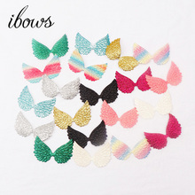 20pcs/lot Mixed Padded Shiny/Glittered Angel wing Shape Appliques Single Sided For Kid DIY Patch And Baby Headwere Accessories
