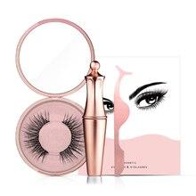 Magnetic False Eyelashes No Glue Full Eye 5 Magnet Reusable Fake Eyelashes Natural Soft Eyelashes Extension Magnetic Eyelash Kit цена