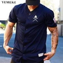 YEMEKE Gyms T shirt Brand Clothing Fitness T-shirt compression Short Sleeve Tshirt
