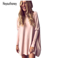 Heyouthoney 2017 Women Tops And Blouses New Fashion Women Shirt Ladies Tops Grey Pink Loose Top