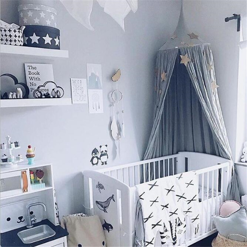 Baby bed curtain Children Room decoration Crib Netting baby Tent Cotton Hung Dome baby Mosquito Net photography props ...
