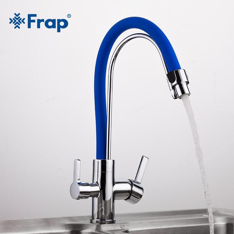 Frap 1 set mélangeur d'eau cuisine évier robinet cuisine robinet torneira purifié eau potable robinet mitigeur eau filte Y4004