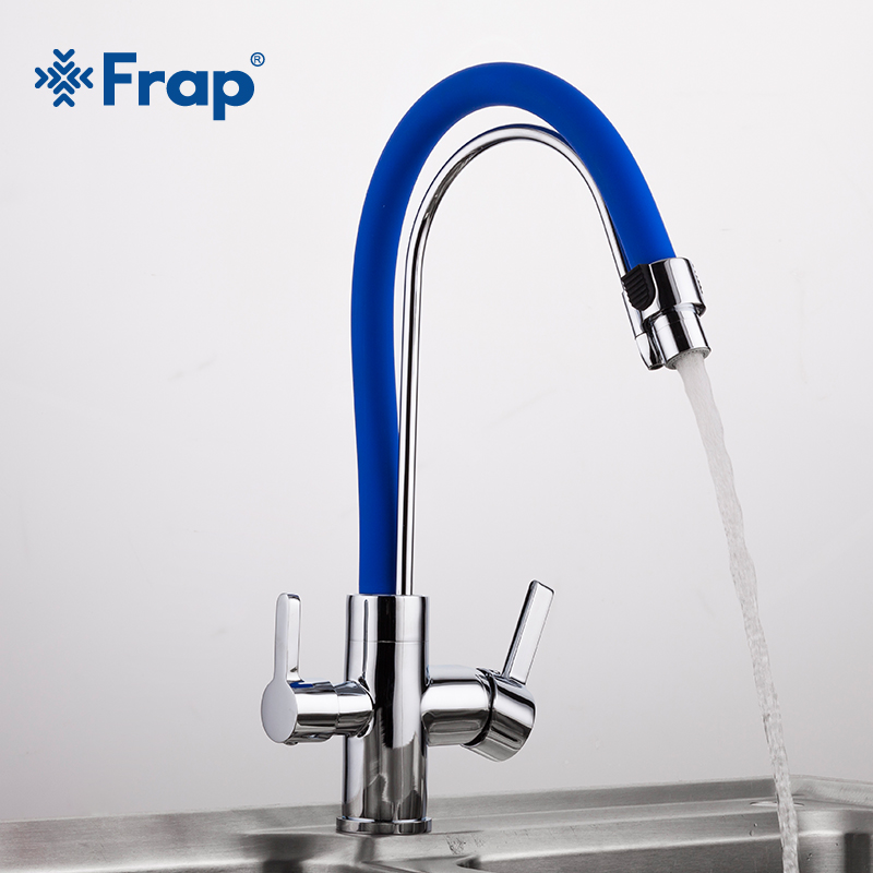 Frap 1set Water Mixer Kitchen Sink Faucet Kitchen Tap Torneira Purified  Drinking Water Faucet Tap Mixer Water Filte Y4004