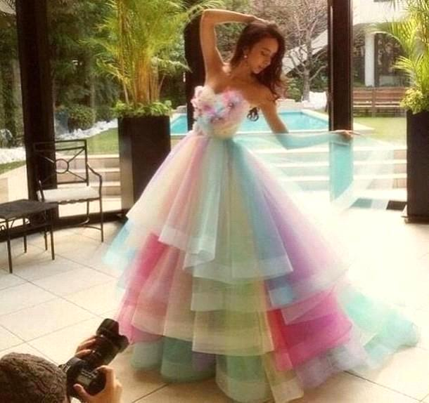 Compare Prices on Rainbow Wedding Gowns- Online Shopping/Buy Low ...