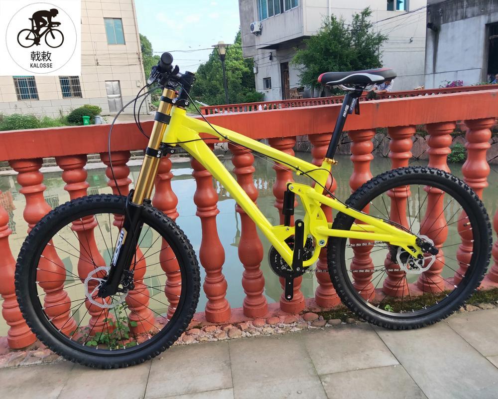 27 speed  165mm travel 26er  bicycle  Full suspension bike bicycle  Hydraulic brakes  mountain bike