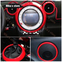 (8pcs) For BMW mini cooper countryman R60 car styling indoo decoration sticker Rings Center Dash Board  Decoration Circle Cover
