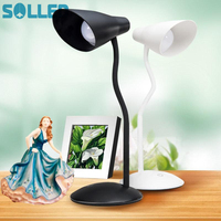 SOLLED Elegant USB Charged LED Table Lamp With Clip Eye Protection Study Reading Light Festival Gift