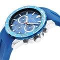 Curren fecha de primeras marcas de lujo 8185 relojes de los hombres de negocios de cuarzo analógico rectángulo dial casual reloj impermeable de los deportes reloj de pulsera