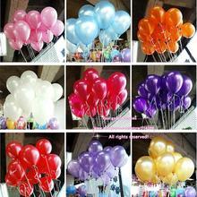 New 50pcs/lot 10inch 1.2g/pcs Latex Balloon Helium Thickening Pearl Celebration Party Wedding Birthday Decoration Balloon