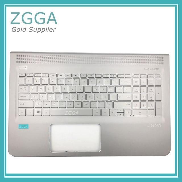 Genuine KB Bezel For HP 15-AE 15-AH Palmrest with US keyboard Backlight Fingerprint Hole Laptop Shell Silver ae021tx ae018tx