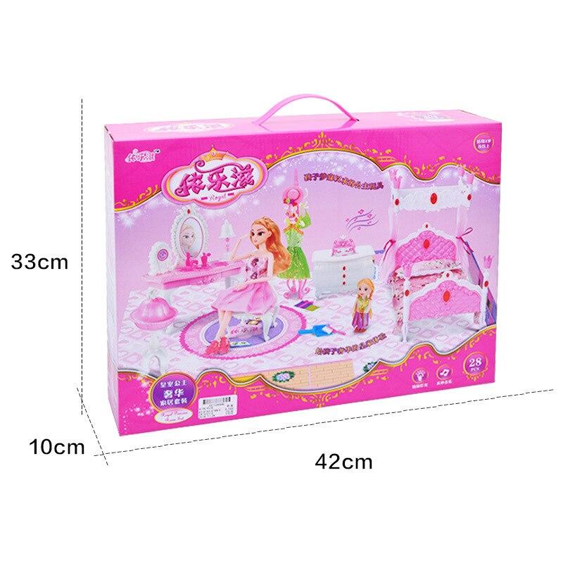 bdcole 10 itemslot nieuwe europa stijl poppenhuis slaapkamer meubels speelgoed voor barbie poppenhuis bed accessoires gift voor meisje in bdcole 10