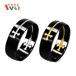 Amgjbg high quality separable cross ring for men black color stainless steel knuckle cool male design.jpg 250x250