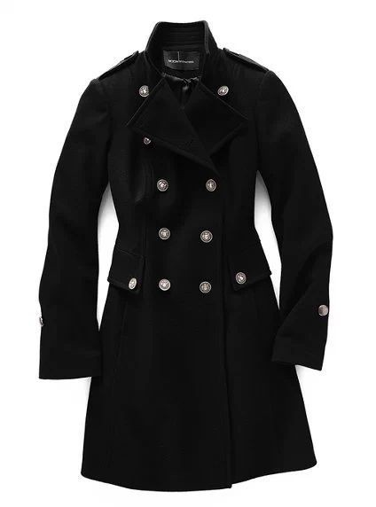 39158b31c3905 Fleece Clothing Wool Coat Women Long Design Black Coat Slim Stand ...