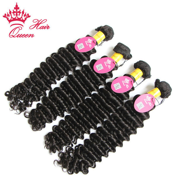Queen Hair Products Peruvian Deep Wave Virgin Hair Human Hair Weave 4pc lot Free Shipping 8-30inch in Stock Grade 7A 4pcs/lot