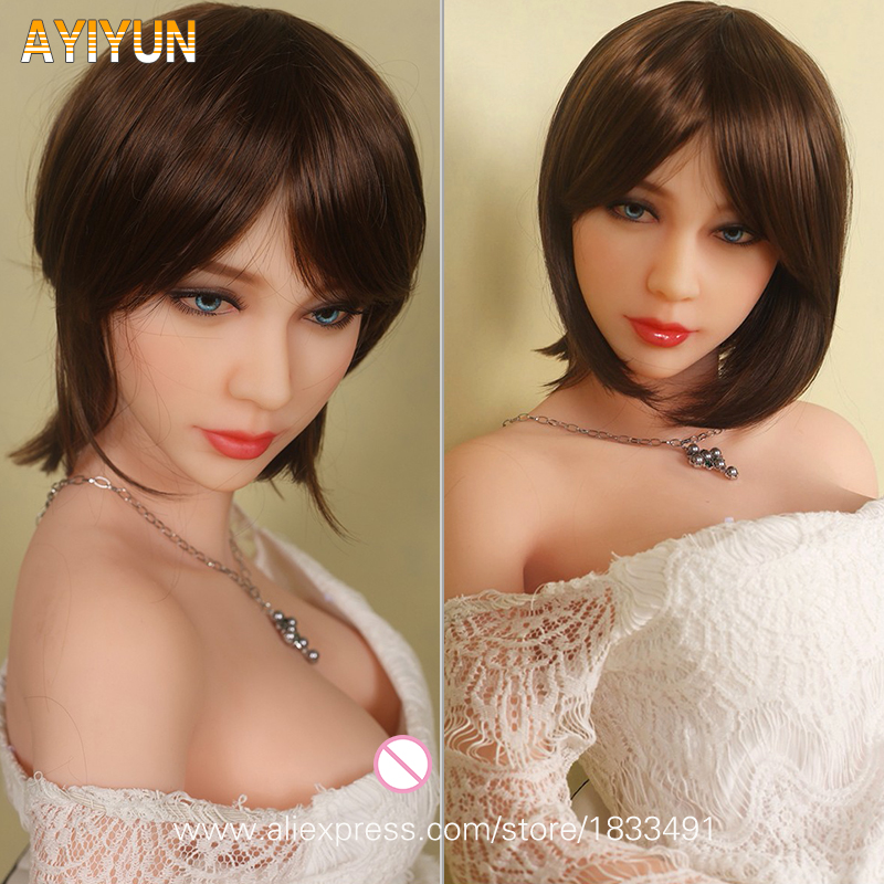 AYIYUN European Style Lifelike Real Sex Doll, Full Size Silicone with Skeleton Love Doll, Oral Vagina Pussy Anal Dolls NO Smell cosdoll 148cm nana lifelike real sex doll full size silicone with skeleton love doll oral vagina pussy anal adul dolls for men
