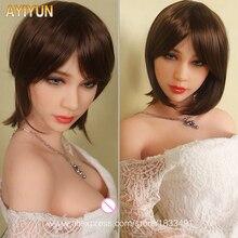 Ayiyun Европейский Стиль реалистичные реальный секс куклы, полный Размеры силикона с Секс-кукла со скелетом, устные Влагалище Pussy куклы для анального секса без запаха