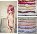 1pcs 5cm*100cm BJD Wigs  High-temperature Fashion colourful fringe hair wigs For 1/3 1/4 1/6 BJD SD Dollfie