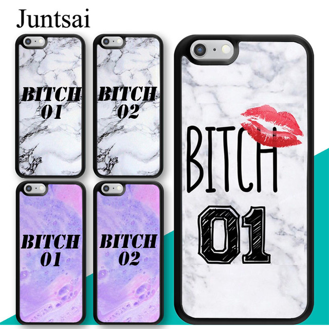 Juntsai Best Friends Forever Bitch Marble Case For Iphone 8 7 6 6s