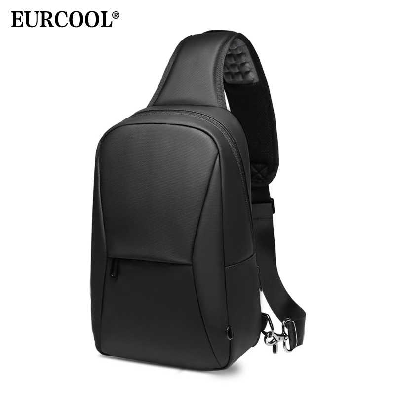 EURCOOL Short Trip Chest Pack Casual Messengers Bags Water Repellent Chest Bag Shopping Travel Crossbody Bags Male n1935