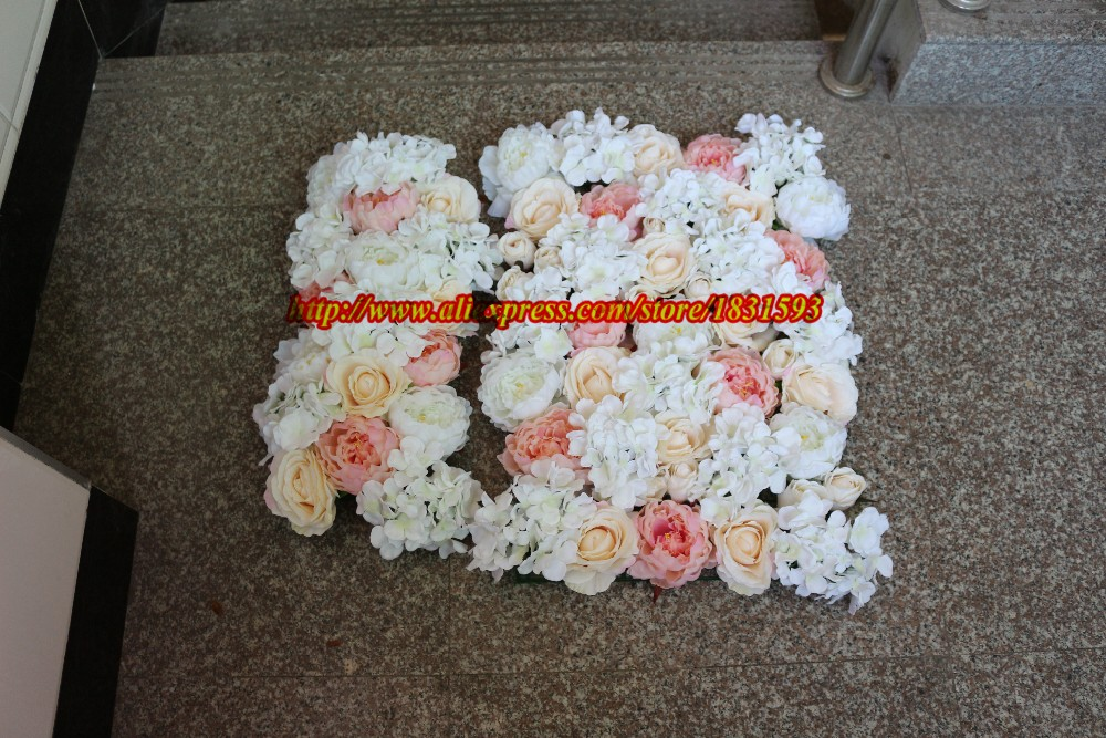 10pcslot Wedding rose wall wedding flowers backdrop decoration artificial flowers runner wedding stage decoration TONGFENG
