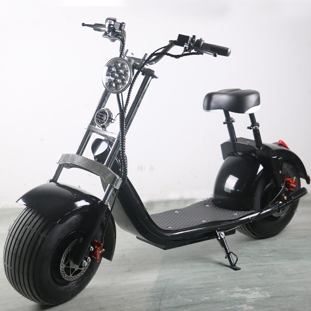Sc10 pro 1500w 60v 12ah batterie amovible citycoco hors route scooter électrique navire de hollande