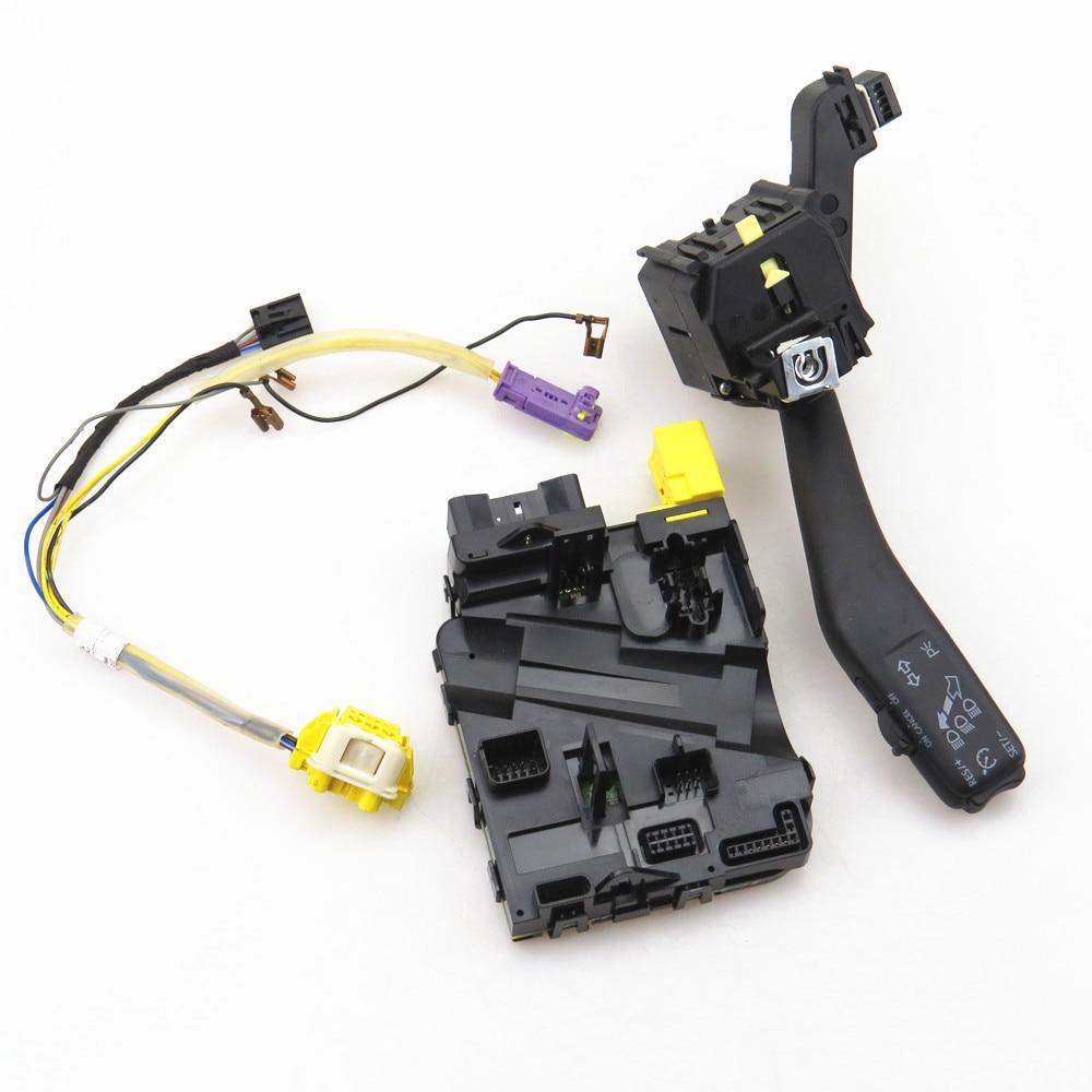 TUKE MF Steering Wheel Cable + Module & Cruise Switch Set 1K0 953 549 CD 1K0 953 513 G For VW Jetta Golf GTI MK5 MK6 Tiguan EOS