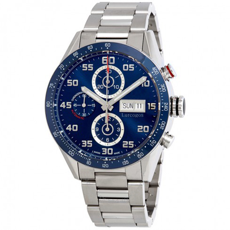mens luxury watchesblue dial 44mm size CAL 1887 automatic glide smooth TAG sapphire glass watch Calibre 16 AAA+