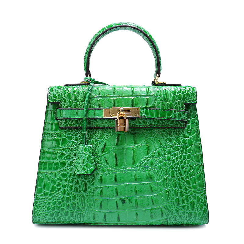 Women genuine leather bag famous brand crocodile pattern woman messenger cross body make up bags