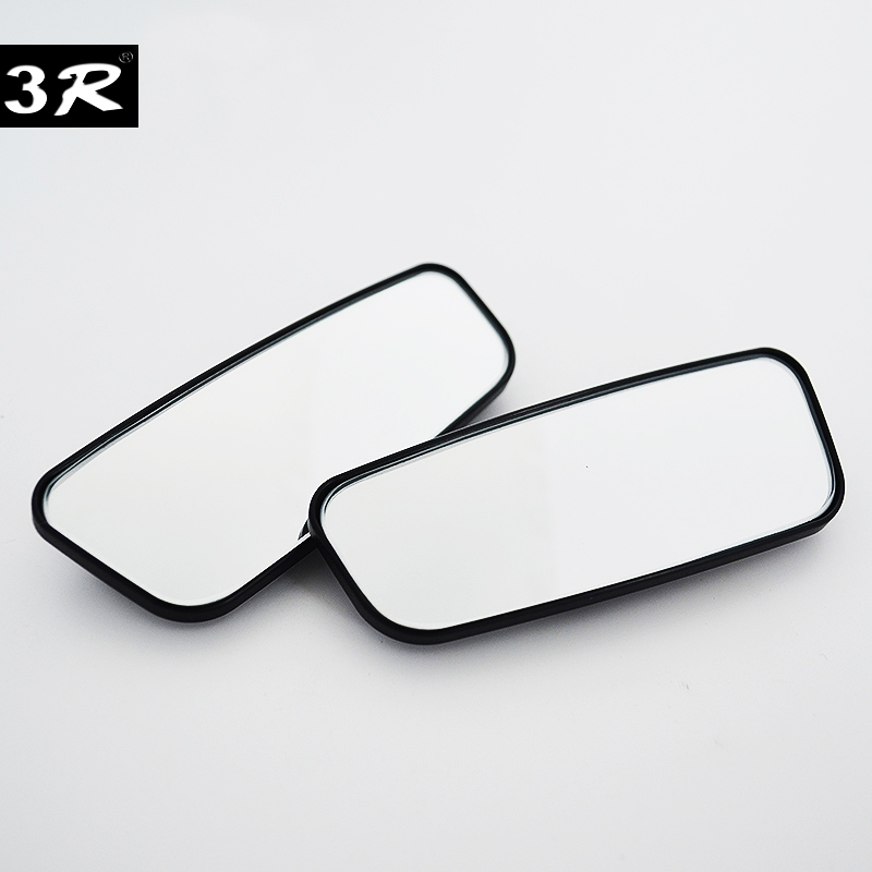 1 Pair Car Blind Spot Mirror 3R Wide Angle Mirror 360 Degree Adjustable Convex Rear View Mirror for All Universal Vehicles 2 in 1 car blind spot mirror wide angle mirror 360 rotation adjustable convex rear view mirror view front wheel car mirror