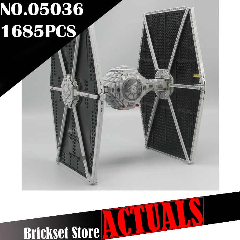 LEPIN 05036 TIE Fighter Star Clone Wars Building Blocks Bricks Enlighten DIY Toys For Kids Model Compatible with legoINGly 75095 lepin 05005 star building block bricks toys for children compatible with special forces tie fighter model