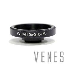 Venes C マウントレンズに M12 、アルミキヤノン Fd cs または C マウントレンズに M12 カメラ