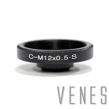 Адаптер для объектива Venes C для M12, алюминиевый адаптер для объектива, подходит для Объектива CS или C для камеры M12