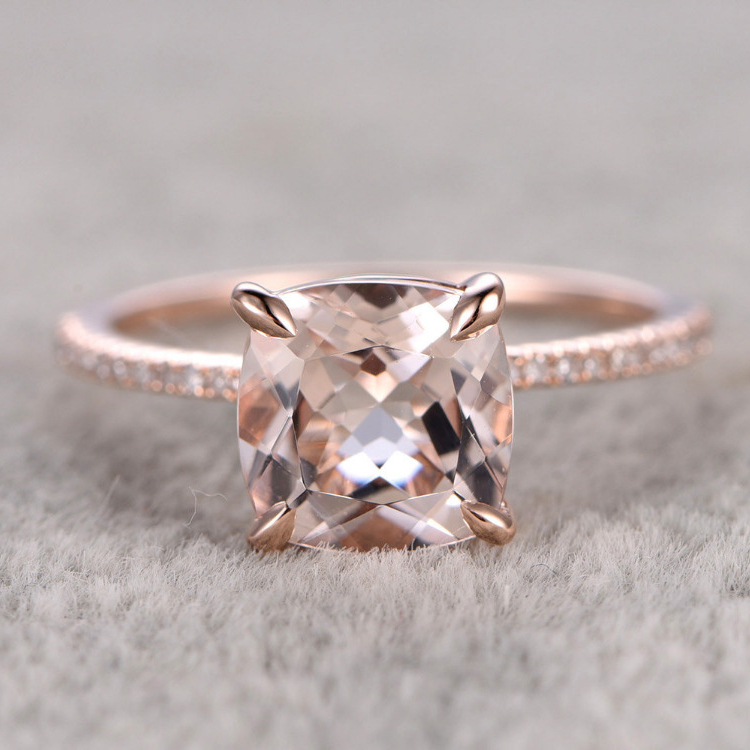 Popular Morganite Ring Rose Gold Buy Cheap Morganite Ring Rose Gold lots from