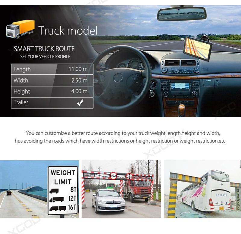 XGODY 726F Navigator Car Truck GPS Navigation