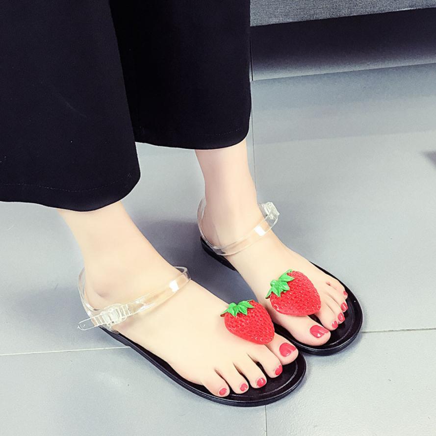 SAGACE Shoes Sandals summer Women Fruit Flip flops Sandals Shoes Girls Plate Flip Flop Beach Casual sandals summer 2018MA28 sandals 2016 new famous brand buckle womens flip flop sandals summer beach sandals af327