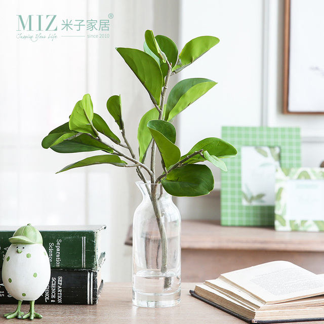 Miz Artificial Plants Home Decoration 1 Set Branch With Vase Simulation Water Desk Accessory Garden Decor