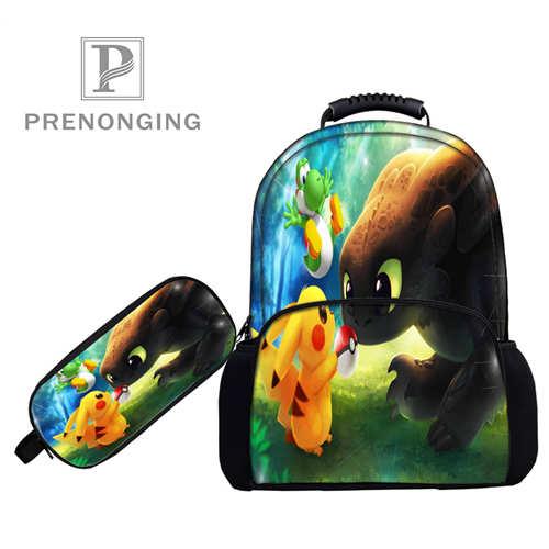 Custom 17inch Pokemon  (1)Backpacks Pen Bags 3D Printing School Women Men Travel Bags Boys Girls Book Computers Bag#1031-4-24Custom 17inch Pokemon  (1)Backpacks Pen Bags 3D Printing School Women Men Travel Bags Boys Girls Book Computers Bag#1031-4-24