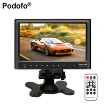 """Podofo Bluetooth 7 """"заднего вида Мониторы тонкий приборной панели Экран, автомобильный аудио-видео fm-передатчик/MP5/USB/Micro SD слот для карт"""