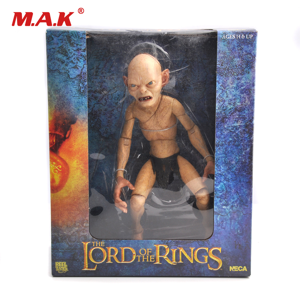 все цены на 1/4 Scale Action Figure Model Toys Lord of the Rings Gollum Smeagol Movable dolls Hobbit Toys & Dolls Hobbies for Boys Kids Gift
