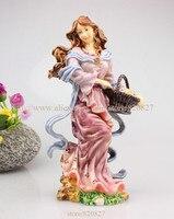 Необычные Фея постоянный Брелок фигурка многоцветный фея статуя женщины Сказочный Сад для девочек Феи сидя