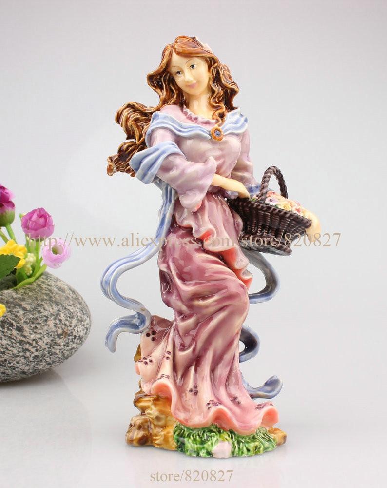 Fancy Fairy Standing Trinket Figurine Multicolor Fairy Woman Statue Fairy Garden Girl Fairies Sitting disney fairies мини кукла pirate fairy tink