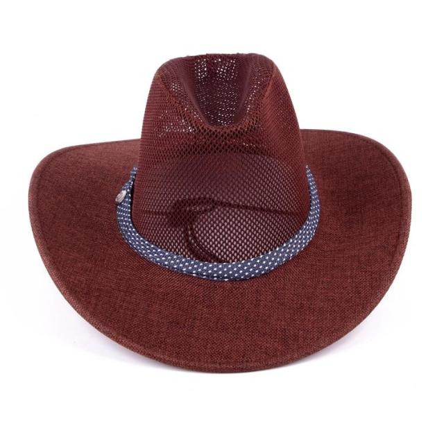 cc7aa6145a7 2018 Men summer style Sunscreen Western Cowboy Hat Trendy Wide Brim Fedora  Jazz Hat Sunbonnet Summer Sun Beach Hat AW7589