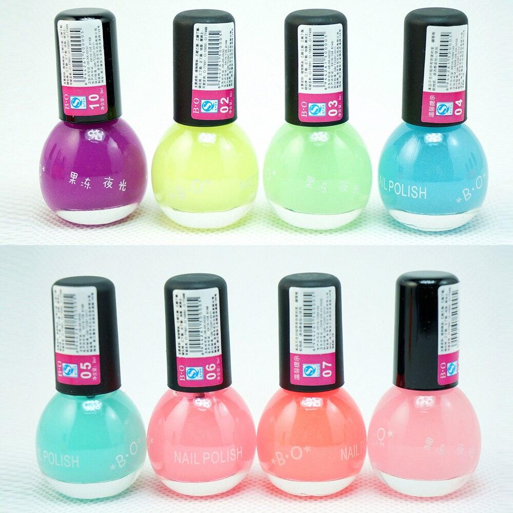 1Pcs 8ml Fluorescent Transparent Peach Neon Luminous Gel Oil Matte ...