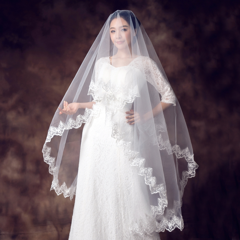Popular long hair veil buy cheap long hair veil lots from for Long veil wedding dresses