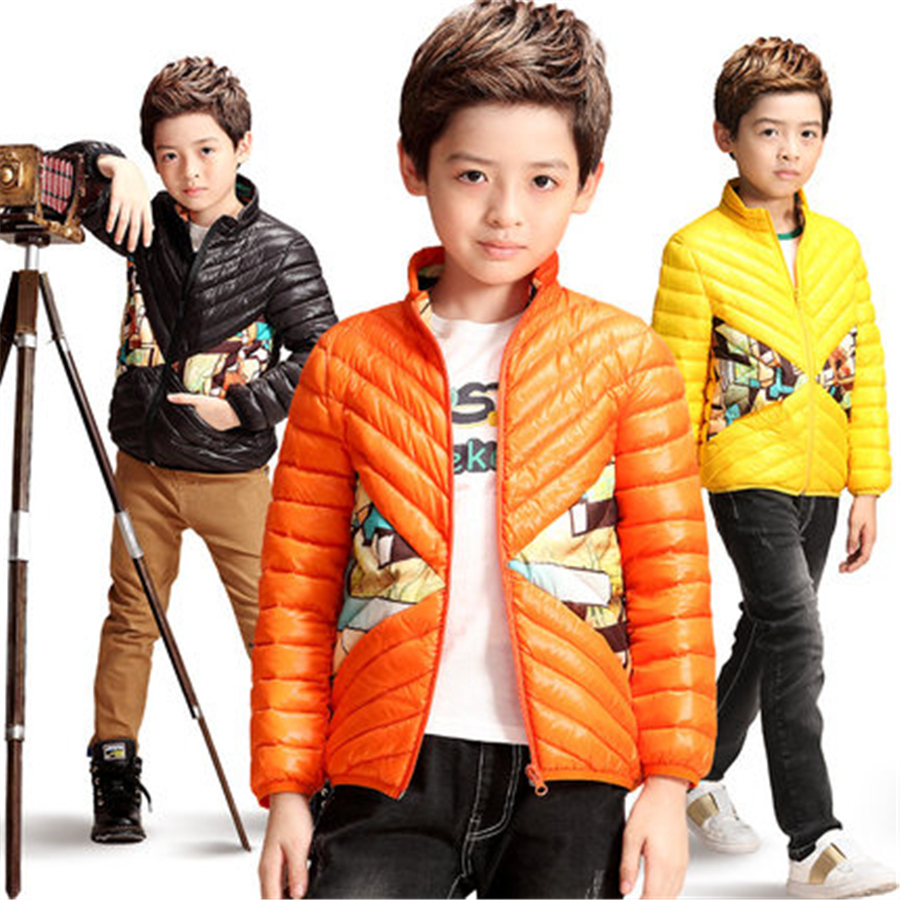 Kids Down Coats And Jackets For Boys Outerwear Warm Children Clothing Park Luxury Winter Thin Down Jacket For Kids 70F1504 2017girl down jackets coats for winter warm baby girl down outerwear