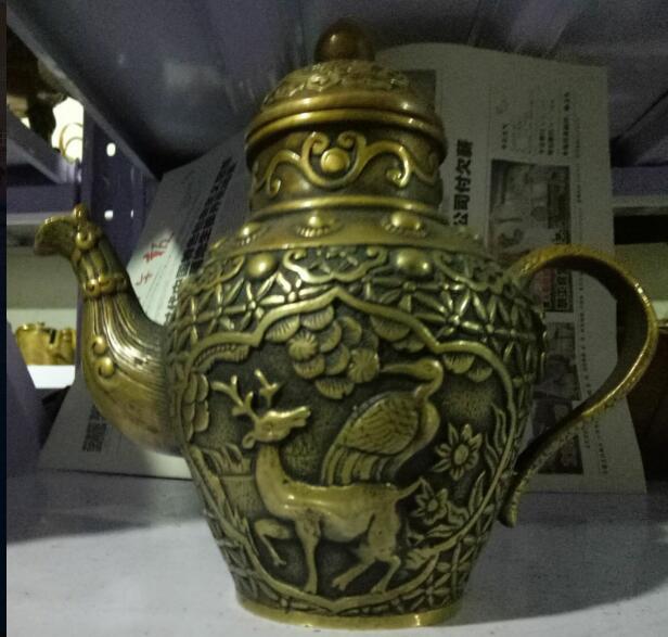 Rare Antique Brass Teapot sculpture sculpture decoration free deliveryRare Antique Brass Teapot sculpture sculpture decoration free delivery