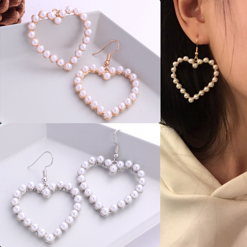2019 New Summer Lovely Colourful Bow Earrings For Women Geometry Circle Simulated Pearl Earrings Boucle D'oreille Brinco